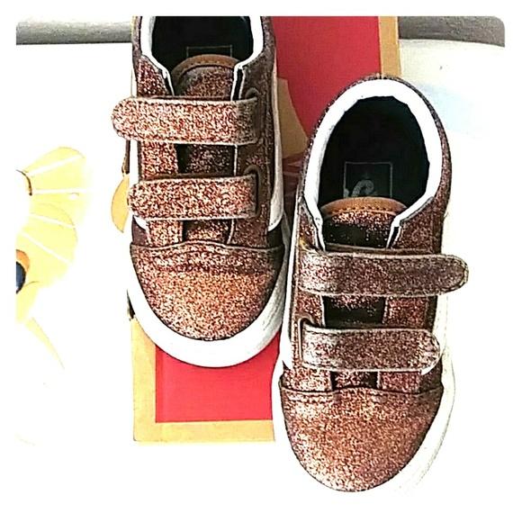 a2847a90d Vans Shoes | Sale Copper Glitter Strapon Size 75 | Poshmark